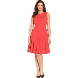 Calvin Klein | Sleeveless Seamed Pleated Dress